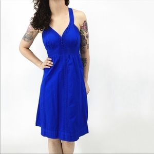 Ted Baker| 100% cotton sweetheart neckline dress